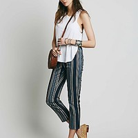 Free People Womens Yard Stripe Mod Crop