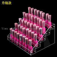 Hot 4 Tiers Removable Nail Polish Shelf Acrylic Clear Cosmetic Trapezoid Display Stand Rack Holder Women Makeup Tool