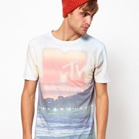 River Island T-Shirt with MTV Beach Print at asos.com