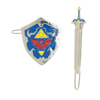 The Legend Of Zelda Shield & Sword Barrette Set