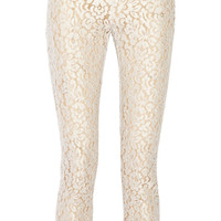 Michael Kors Collection - Cotton-blend guipure lace pants