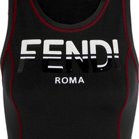 Fendi - Stretch-jersey sports bra