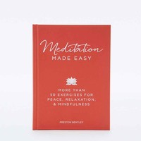 Meditation Made Easy Book - Urban Outfitters