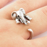 Retro Adjustable Elephant Ring