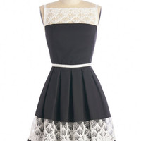 ModCloth Mid-length Sleeveless A-line Early to the Party Dress