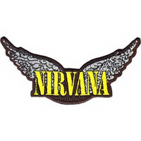Nirvana Iron-On Patch Wings Logo
