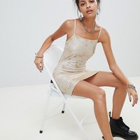 Elsie & Fred cami dress in glitter mesh two-piece at asos.com