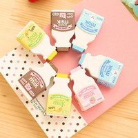 Kawaii Milk Bottle Eraser
