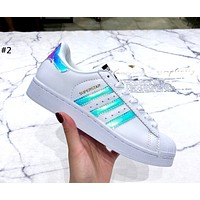 ADIDAS 2019 new women's laser shell white shoes #2