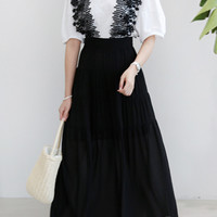 Lace Strap Long Pinafore Dress