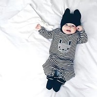 2018 Spring Autumn New Cute baby boy clothes Baby Rompers Long sleeve Jumpsuit baby girl clothing newborn clothes infant suit