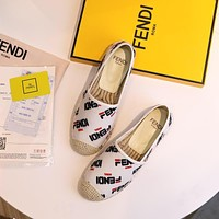 Fendi Women Casual Canvas Spadrilles