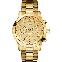 Guess Gold-Dial Chronograph Watch - Gold