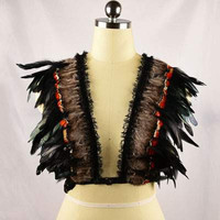 Feather bridal party bralette Burning Man