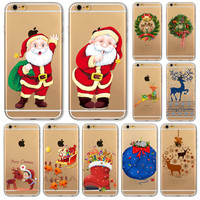 Soft Phone Cover Case For iPhone 6 6S 5 5S SE 6Plus 6SPlus 5C 4 4S Amazing Present Santa Claus Christmas Tree Hat Cat Fundas