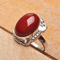 RED JASPER STELING SILVER RING 7 BRING HIM BACK PACKAGE INCLUDES 14 DAYS CAST