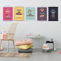 Motivational Typography Life Quotes A4 Vintage Retro Art Prints Poster Hippie Wall Pictures Canvas Painting No Framed Home Decor