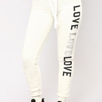 Dreamlover Lounge Joggers - Marled Oatmeal