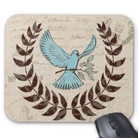 Blue Dove Peace Mouse Pad