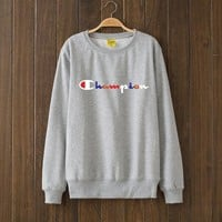Champion Multicolor Woman Men Top Sweater Pullover