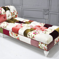 Josephine patchwork chaise lounge