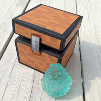Handmade 8-Bit Minecraft Inspired 3D Diamond