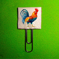 Rooster Planner Clip Cockerel. Planner Clips Bookmarks, Planner Supplies Accessories. Bookmarks Page Planner. Animal Planner Clip Book Mark