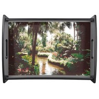 Tropical Garden Paradise Serving Tray