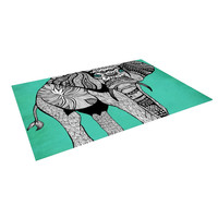 "Pom Graphic Design ""Elephant of Namibia Color"" Indoor / Outdoor Floor Mat"