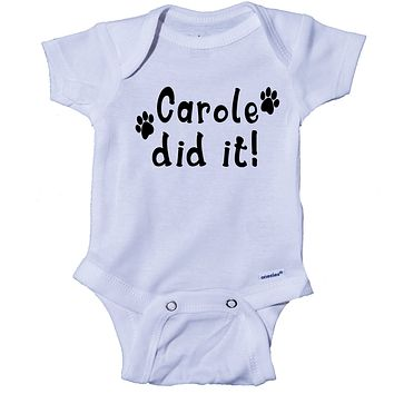 Ink Trendz® Carole Did It! Black Print Tiger King Themed Baby Onesuit®