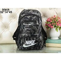 NIKE 2018 new couple models men and women fashion casual shoulder bag F-A36H-MY Black