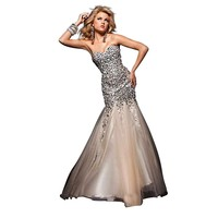 Tony Bowls Mermaid Dress 113720, Nude, 0