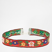 Rock 'N' Rose Joni Folk Choker Necklace