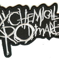 My Chemical Romance Iron-On Patch White Letters Logo
