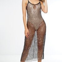Nala Sequin Cover-Up - Black