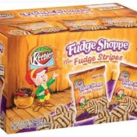 Fudge Shoppe Cookies, Mini Fudge Stripes, 2-Ounce Bags (Pack of 36)