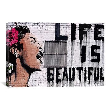 Life is beautiful BANKSY canvas painting wall pictures for living room wall art decorative pictures unframed