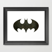 BATMAN, Vintage Retro Version of that Iconic Symbol TEE Version Framed Art Print by LonestarDesigns2020 - Flags Designs +