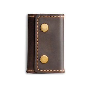 Trifold Leather Compact Key Case