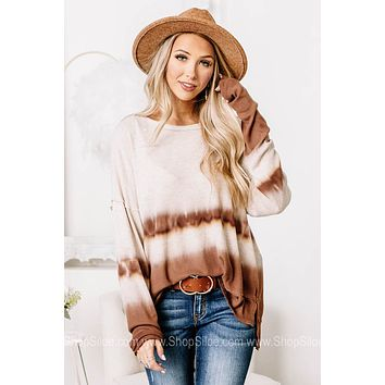 It Just Comes Natural Ombre Tie Dye Top