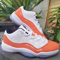 NIKE AIR JORDAN11 LOW AJ1 1 low cut white orange