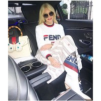 FENDI Embroidered Crew Neck Sweater-2