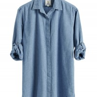 The OVERSIZE Shirt - Women's shirt - EXTRA LONG SHIRT - Washed Chambray - MiH