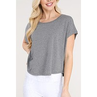 Devin Dolman Crop Top - Grey