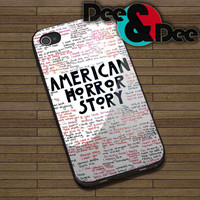 American Horror Story Quotes for iPhone 4/4S, 5/5S, 5C - Samsung Galaxy S3, S4 Rubber Case and Plastic Case