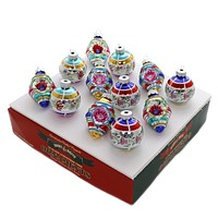 Shiny Brite CC DEC ROUNDS & SHAPES Glass Ornaments 4027601