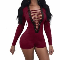 Joanna lace up bodysuit