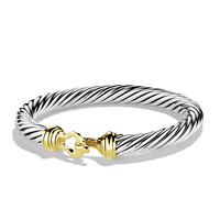Cable Buckle Bracelet with Gold - David Yurman