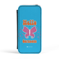 Sassy - Hello Gorgeous #10433 PU Leather Case for iPhone 5/5s by Sassy Slang