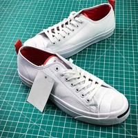 Converse Jack Purcell Signature White Red Shoes - Best Online Sale